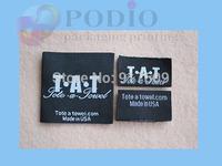 5000pcs/lot Custom garment labels/woven garment labels/brand garment labels free shipping