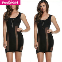 Newest Summer Sexy Black Bodycon Dress Sleeveless Sexy Bodycon Dress To Party Women Novelty Dresses Cheap Clothes