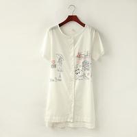 Single day fine summer 2014 Kuansen loose cotton lace Department leisure code waist dress 0.12