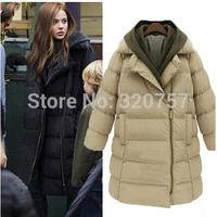 QA09 HOT new winter women Detachable cap thickened down jacket fashion women coat Cotton-padded jacket  free shipping