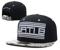2014 fashion  WATIB Snapback Cap men and women polo Hip Hop hat Snakeskin brim Straps Baseball Cap swag 6 style Retail Wholesale