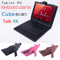 Free shipping keyboard Case for Cube Talk 9x U65GT tablet pc ,keyboard Case Cover for Cube Talk U65GT,3colors in stock