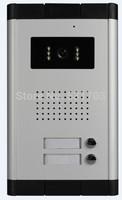infrared LED Camera Door Video Intercom Easy Connection Door phone DoorBell Panel for 2 Apartment Building Video Door Phones