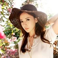2014 new  free shipping casual female raffia sun hat cap
