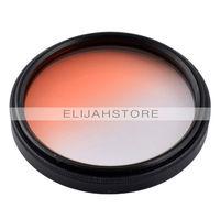 49mm Gradual Digital Filter Lens Protector for all 49mm Canon Nikon DSLR SLR Camera 3 Colors grey/blue/orange Free Shipping