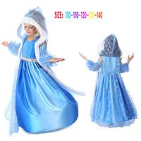 Girl Frozen Dress Princess Kids Cosplay Vestido Frozen Children Dress Kids Clothes Anna Dress Frozen Anna Costume CW-30