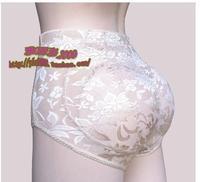 Breathable padded waist abundant buttocks underwear Girls Nice Bottom Triangle fake ass hip pad panties