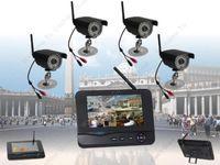 Free Shipping!Digital Home Surveillance 2.4ghz Wireless Kit CCTV Receiver + Waterproof Cameras
