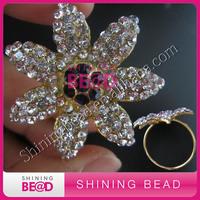 gold clear rhinestone napkin ring, free shipping,2015 high quality colorful rhinestone napkin ring