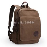 Women Fashion Canvas Leather Backpack Tote Shoulder Bag Satchel Bags Men Laptop Travel