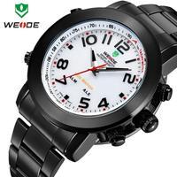 Famous sport watch men luxury watches waterproof LED light stainless steel strap male clock one year guarantee