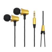 "Metal earphone ""i"" plug/Handsfree 3.5MM In-ear earphone for iphone MP3/MP4/ DJ headphone with Pvc bag Free shipping"