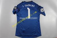 14-15 Season Real Madrid Goal-Keeper Jersey ,1# I.CASILLAS thai quality soccer Jersey