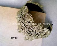12pcs/lot, high grade lace wide hairband elegant lady lace headband T81100 free shipping (black gold grey)