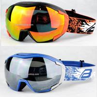 Free shipping Motocross spherical ski goggles winter anti-fog skiing glasses men snowmobile snow goggle snowboard ski googles