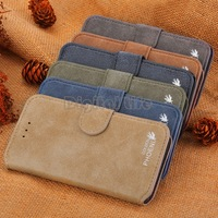 "Hot Cowhide Leather Case 4.7"" 5.5"" inch Nice Wallet Case Flip Stand Case Cover For iPhone 6 6 Plus SV21 SV010526"