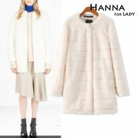 2014 Winter Fashion Faux Fur Long Sleeve Outwear Coats Women Clothing Jackets
