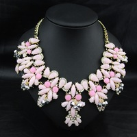 Wholesale New Arrival Perfume Women Jewelry Exaggerated Alloy Acrylic Charm Choker Brand Exaggerate Statement Necklace