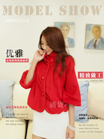 2014 new winter Female short paragraph Japan style Collar  Woolen coat Fashion big yards Jacket