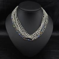 Aliexpress Wholesale Fashion Vintage Collar Europe costume Handmade Crystal Perfume Women Statement Choker Pendant Necklace