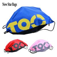 1PCS School Drawstring Book Bag Sport Gym Swim Dance Shoe Backpack Duffle Nylon .TS10E