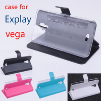 Free Shipping cheap left and right PU Leather Case for Explay Vega,4colors in stock,high quality