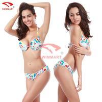 sexy bikini set new 2014 women swimsuit steel prop with a chest pad printing swimwear biquini vintage M L XL