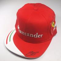 2014 F1 RacingTeamline Cap racing fan flat brim cap adjustable  Kimi Raikkonen Driver Cap cotton top quality