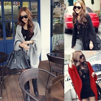 2014 Winter Sweater Women's Cardigans 3 Colours Long Sleeve Girl Casual Jackets Shawl Cape Women's Wool Blend Coats SV22