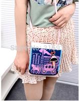 2014 Promotional Korean fashion casual shoulder diagonal, vertical, horizontal section princess carriage 055 free to send