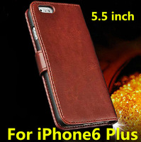 "5Pcs/Lot Luxury Leather Cover Case For iPhone 6 Plus 5.5"" inch With Card Holder Stand"