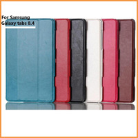 Free shipping NEW Leather Folding Case Protective Case Stand cover Heat Setting Leather Case for Samsung Galaxy Tab S 8.4 T700