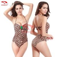 Swimsuit 2015 Leopard zebra designs high-end piece swimsuit sexy swimwear women bikini biquini vintage