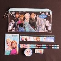 NEW! 10sets/lot Frozen Pencil Case Frozen Stationery School Pencil Case Wholesale !!