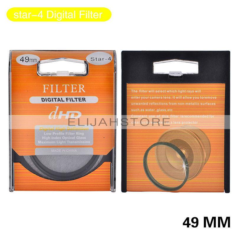 49mm Star +4+6+8 Digital Filter Lens Protector for all 49mm Canon Nikon DSLR SLR Camera Free Shipping(China (Mainland))