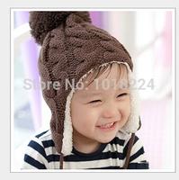 2014 NEW winter Hat Toddler Boy Girl Kids caps Children Knitted Hats Warm Crochet Hat infant Baby skullies & beanies wholesale