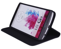 Luxury Real Leather Case For LG G3 Phone Back Cover Stand Book Style  - Free Shipping