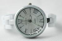 Hot Sale 20pcs/lot Free Shipping women dress watches with rhinestone white dress ceramics watch Wholesale