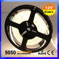 LED strip 5050 SMD 12V flexible light 60LED/m,5m 300LED,White,White warm,Blue,Green,Red,Yellow