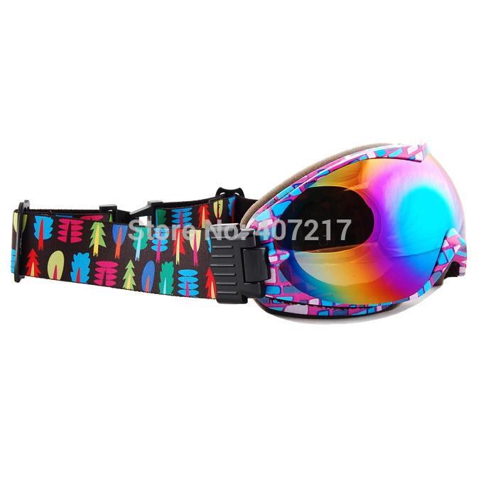 2014 womens Anti-Fog bilayer ski goggles Snowboard Goggles colorful skiing eyewear can put near-sighted eyeglasses inside(China (Mainland))
