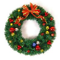 Christmas door hanging decoration 40cm needles decoration garland christmas wreath free shipment