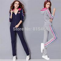 Fashion hot sale women autumn long sleeve tracksuits sport suit,women's tracksuits jogging suits female sportswear