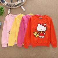Kids Hoodies 2014 New Arrival Child Boys Girls Frozen Hoodies Cotton Lovely Kitty Cartoon Long Sleeve Tops Sweatshirts Kids Wear