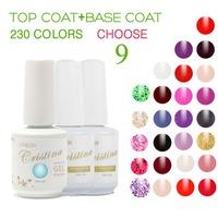 Cristina 230 Colors (Choose 9 Colors +Base +Top Coat)French Color Temperature Change Luminous Color Uv Soak Off Nail Gel Polish