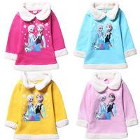 4 Colors Frozen Jacket Overcoat Girl Winter Coat Fashion Children Outerwear Kides Pricess Casaco Infantil Girls Coats CW-25