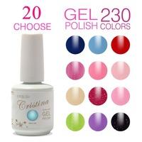 (Choose 20 Colors)Cristina 230 Colors For Led Uv Soak Nail Gel Polish Glitter Temperature Change Luminous Color Set