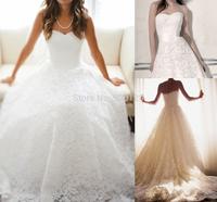 2015 Dramatic A Line Lace Wedding Dress Sweetheart Sleeveless Court Train Zipper Back 2014 New Bridal Dress Gown Custom Made