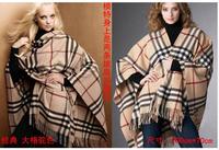 2014 Women Grid muffler scarfs fashion  New Style Classic Big Plaid Cashmere Scarf  3 colors free shipping