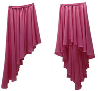 2015 New style women's good quality pink color ankle-length irregular skirt,plus size sexy evening skirts for girls