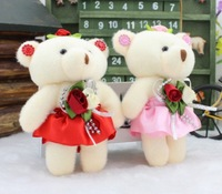 20pcs/lot free shipping Fashion new soft conjoined  Bear Pendant children toy party gift  flower packing material wholesale